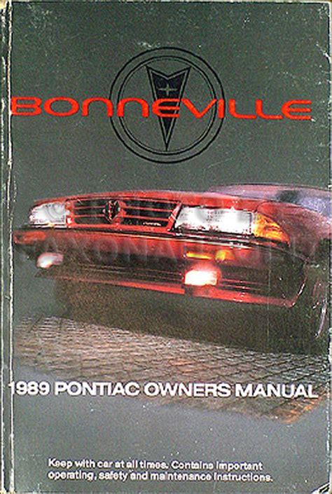automotive repair manual 1989 pontiac bonneville parental controls 1989 pontiac bonneville original owner s manual 89 le se sse