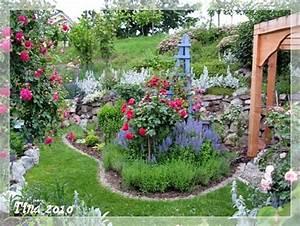Welche Pflanzen Passen Zu Rosen : auch das beet vor der steinmauer anfangsbild weiter oben ~ Lizthompson.info Haus und Dekorationen