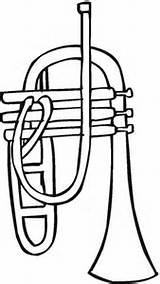 Coloring Trumpet Pages Music Musical Instruments Printable Supercoloring Categories Clipart Print sketch template
