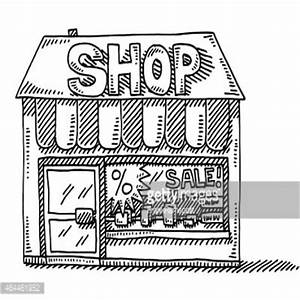 shop clipart black and white 6   Clipart Station