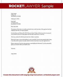 complaint letter to landlord template with sample With complaint letter to landlord template