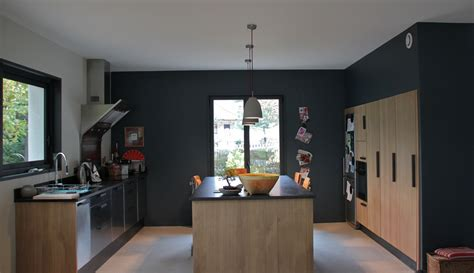 cuisine gris anthracite cuisines on flan home and space saving