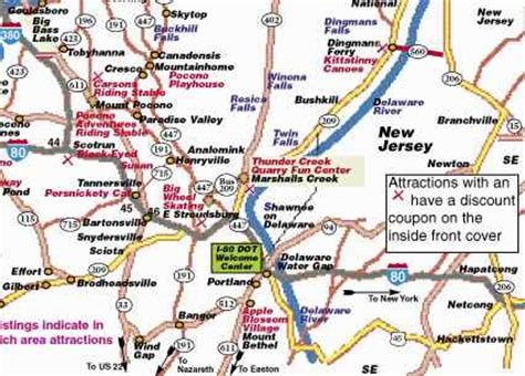 poconos cing cabins map of poconos