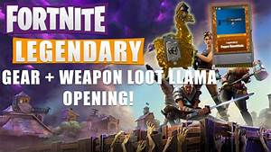 FORTNITE LEGENDARY Weapon Llama Opening Collection Book