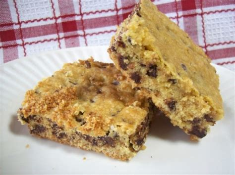 lazy chocolate chip cookie bars  cake mix recipe
