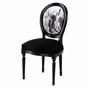 Chaise Médaillon Maison Du Monde : chaise m daillon en coton imprim et ch taignier noire louis maisons du monde ~ Teatrodelosmanantiales.com Idées de Décoration