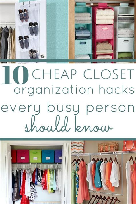 How To Organize A Bedroom On A Budget by 10 Cheap Closet Organization Hacks Everyone Should