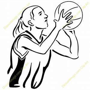Girl Shooting A Basketball Clipart - ClipartXtras