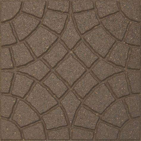 envirotile rocca 18 in x 18 in earth paver 70