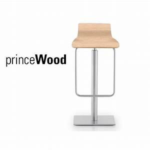 Tabouret Bois Design : tabouret design prince wood assise bois naturel structure acier ~ Teatrodelosmanantiales.com Idées de Décoration