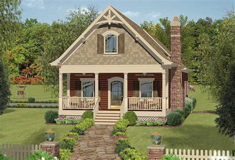 Narrow Cottage Plans by Narrow Lot Cottage With In Suite 20079ga