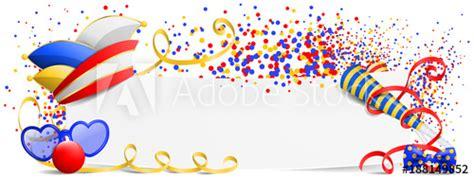 rosenmontag karneval fasching banner mit narrenkappe und
