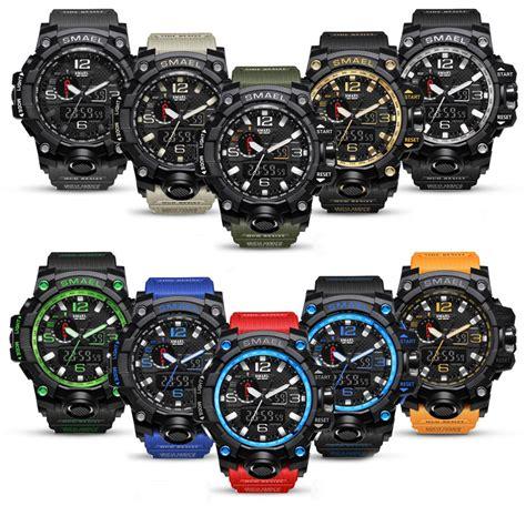 smael Herren Militär Uhr Quarz Digital Analog Armbanduhr
