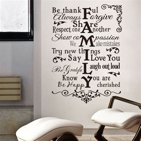 xcm removable family words quote wall sticker home