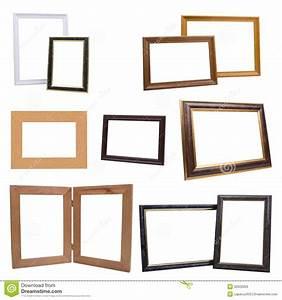 Ensemble Cadre Photo : ensemble de cadres de tableau en bois d 39 isolement sur le fond blanc image stock image du ~ Teatrodelosmanantiales.com Idées de Décoration