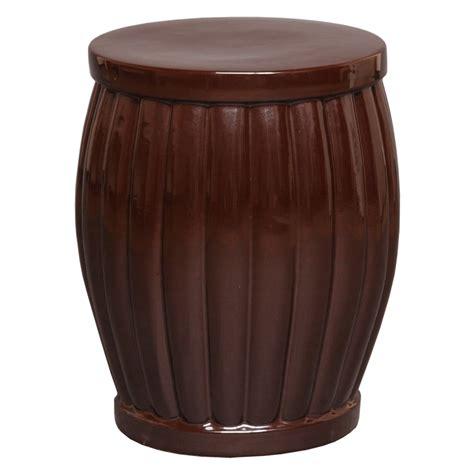 brown glaze ceramic garden stool