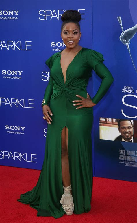 brely evans green gown  worst dressed sparkle