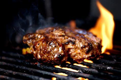 grilled pork burgers  romesco potatoes celebrating
