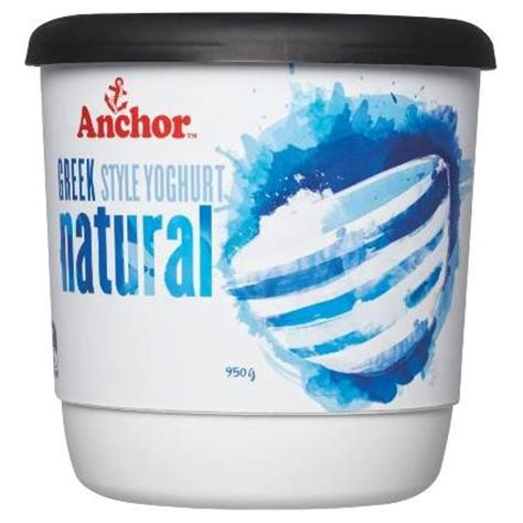 Anchor Yogurt buy anchor yoghurt tub greek natural 950g online at