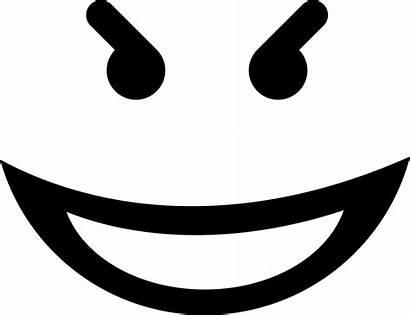 Evil Smile Face Svg Icon Emoticon Square