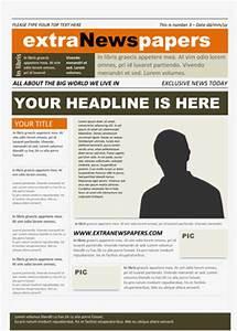 Newspaper template free microsoft word newspaper for Free printable newspaper template for students