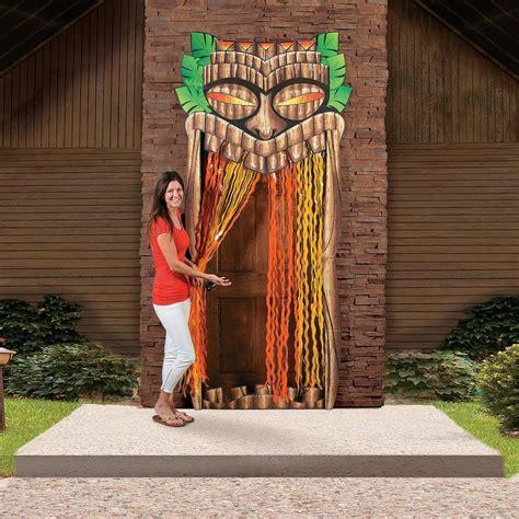 grand tiki entrance oriental trading hawaiian party