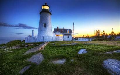 Lighthouse Desktop Wallpapers Backgrounds Computer Maine Pemaquid