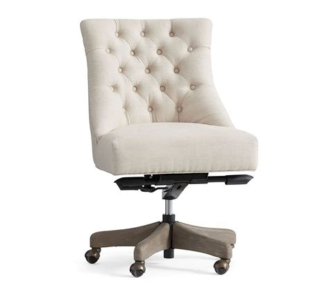 tufted swivel desk chair hayes tufted swivel desk chair pottery barn au