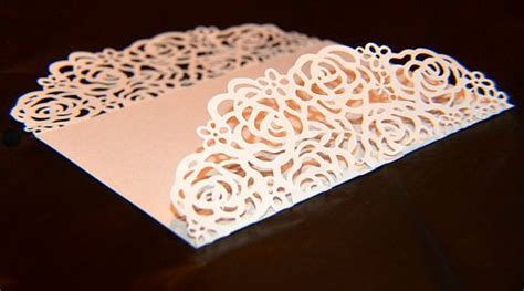 rose card cricut wedding invitations cricut wedding