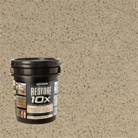 rust oleum restore  gal driftwood deck  concrete