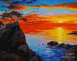 Big Sur Sunset Painting by Graham Gercken