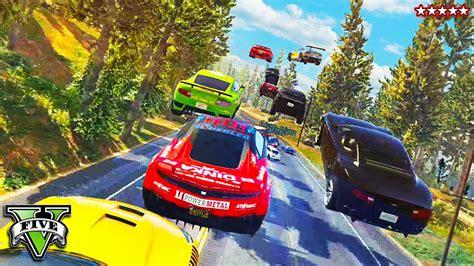GTA 5 Online Fun w/ROCKSTAR GAMES!! Epic 30 Car Obstacle ...