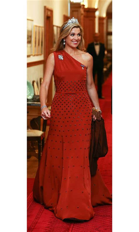 Royals Wearing Red Dresses Gowns Kate Middleton