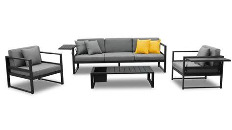 canapé de jardin aluminium salon de jardin tamesi avec canapé 2 fauteuils table