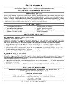 information security resume exles exle information security administrator resume sle