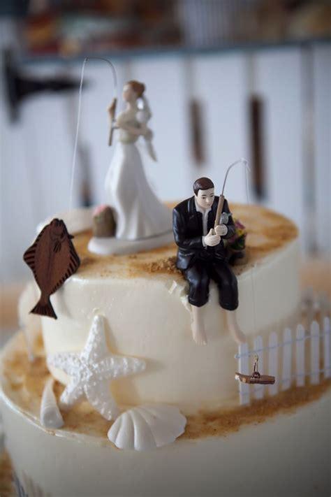 fishing cake toppers   wedding bride  halibut