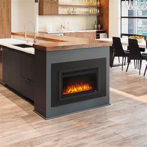 built in electric fireplace 24 quot nefb24hg built in electric fireplace napoleon