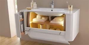 armoire salle de bain coulissante With porte de douche coulissante avec meuble bois brut salle de bain