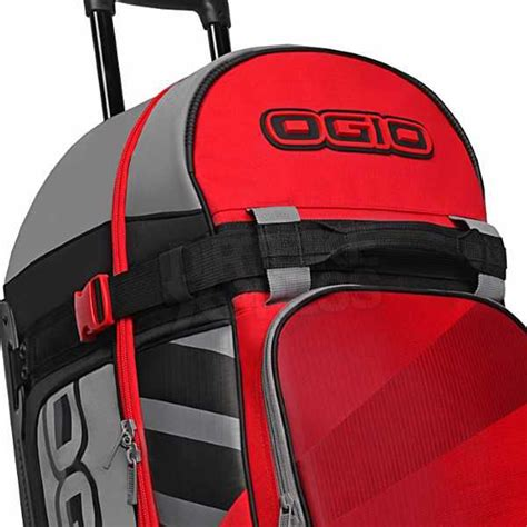 ogio motocross gear bags ogio rig 9800 motocross wheeled gear bag red hub limited