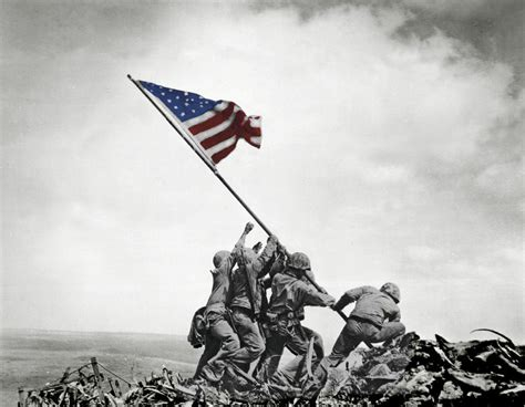 U. S. Marines Raising The Flag Iwo Jima Usa Poster