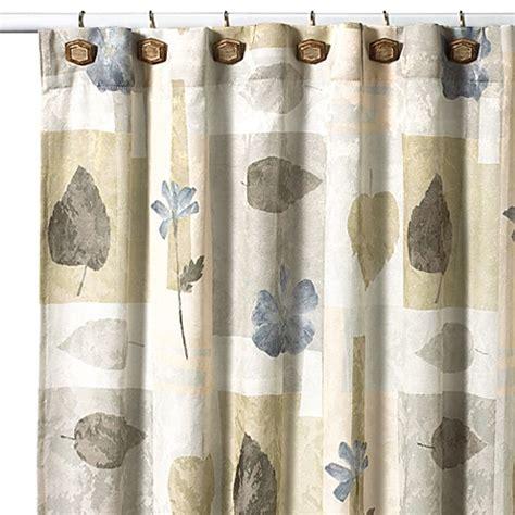 croscill shower curtain croscill 174 spa leaf 70 inch x 75 inch fabric shower curtain