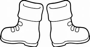 boots coloring pages to print - winter boots coloring page