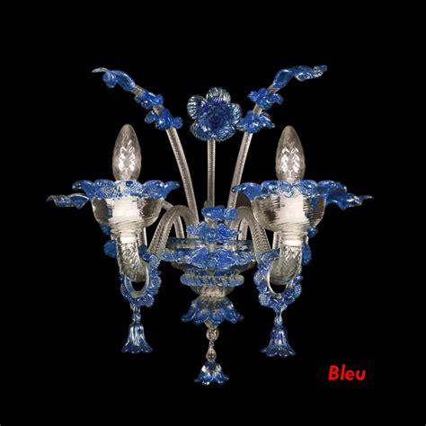 murano applique applique baroque personnalisable verre murano 2 feux