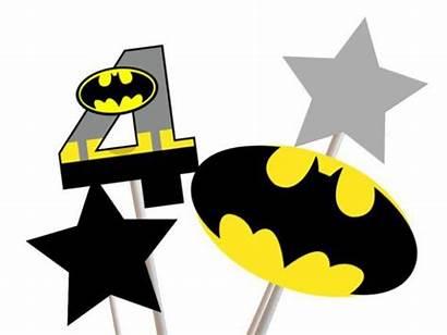 Batman Birthday Party Printable Centerpiece Superhero Banner