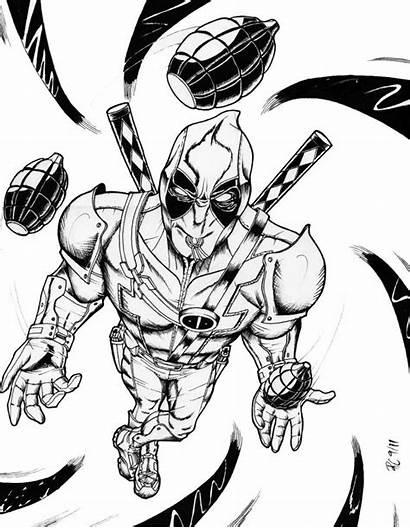 Deadpool Coloring Pages Printable Super Superheroes Marvel