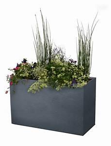Bac A Fleur Muret : bac fleurs muret graphit 100 cm anthracite oogarden france ~ Premium-room.com Idées de Décoration