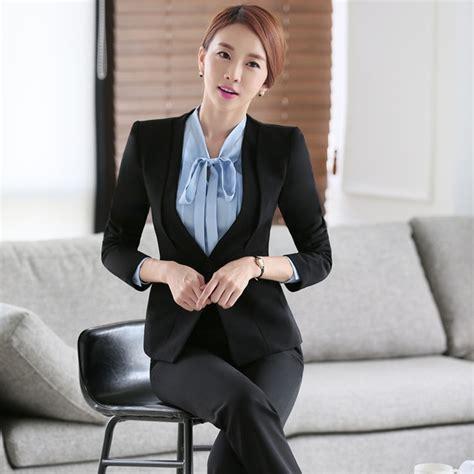abbigliamento ufficio donna donne ufficio suit set due pezzi abiti primavera autunno