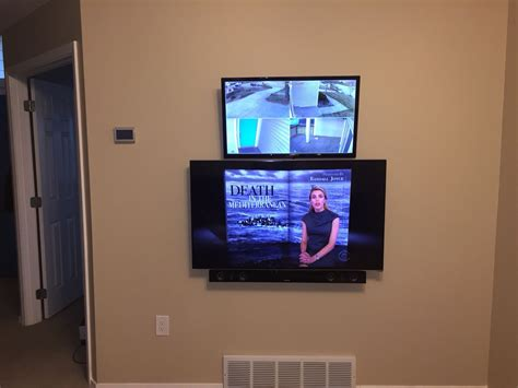 Home Interior Video Surveillance : Mounted My Tv, Sound Bar, And Security Camera Monitor On