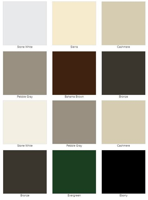 marvin color finish options color chart finish chart