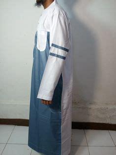 jubah muslim pria marocco gamis pria lengan pendek kerah shanghai jubah samase putih coklat